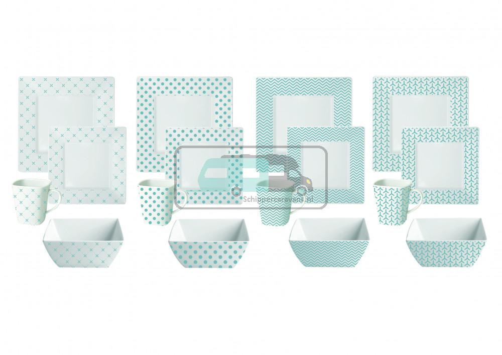 Melamine servies Scandic 16-delig